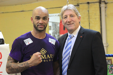 Leon McKenzie takes to the boxing ring, sponsored by Formark