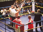 Leon McKenzie undefeated at ringside at York Hall, Bethnal Green in March 2014